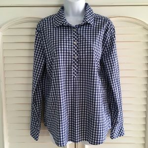 Southern Tide Hadley Plaid Partial Button Shirt